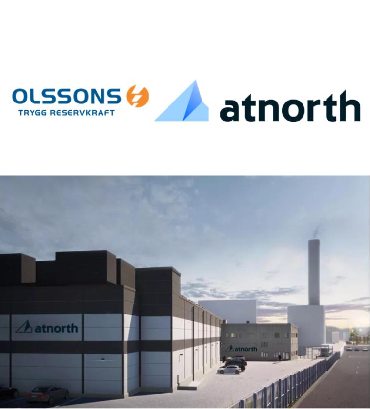 Olssons har tecknat avtal med atNorth om uppförandet av ett nytt klimatpositivt datacenter i Stockholm